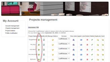 3DXplorer Studio Project Management Page