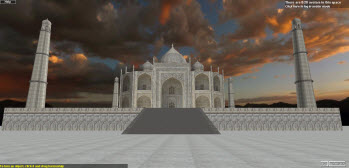 Taj Mahal in 3DXplorer