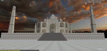 Taj Mahal in 3DXplorer