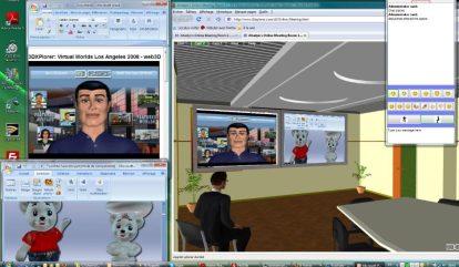 Copie décran dune salle 3D avec online meeting de 3DXplorer