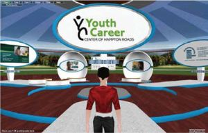 3DXplorer Youth Career Center immersive 3D virtual event platform