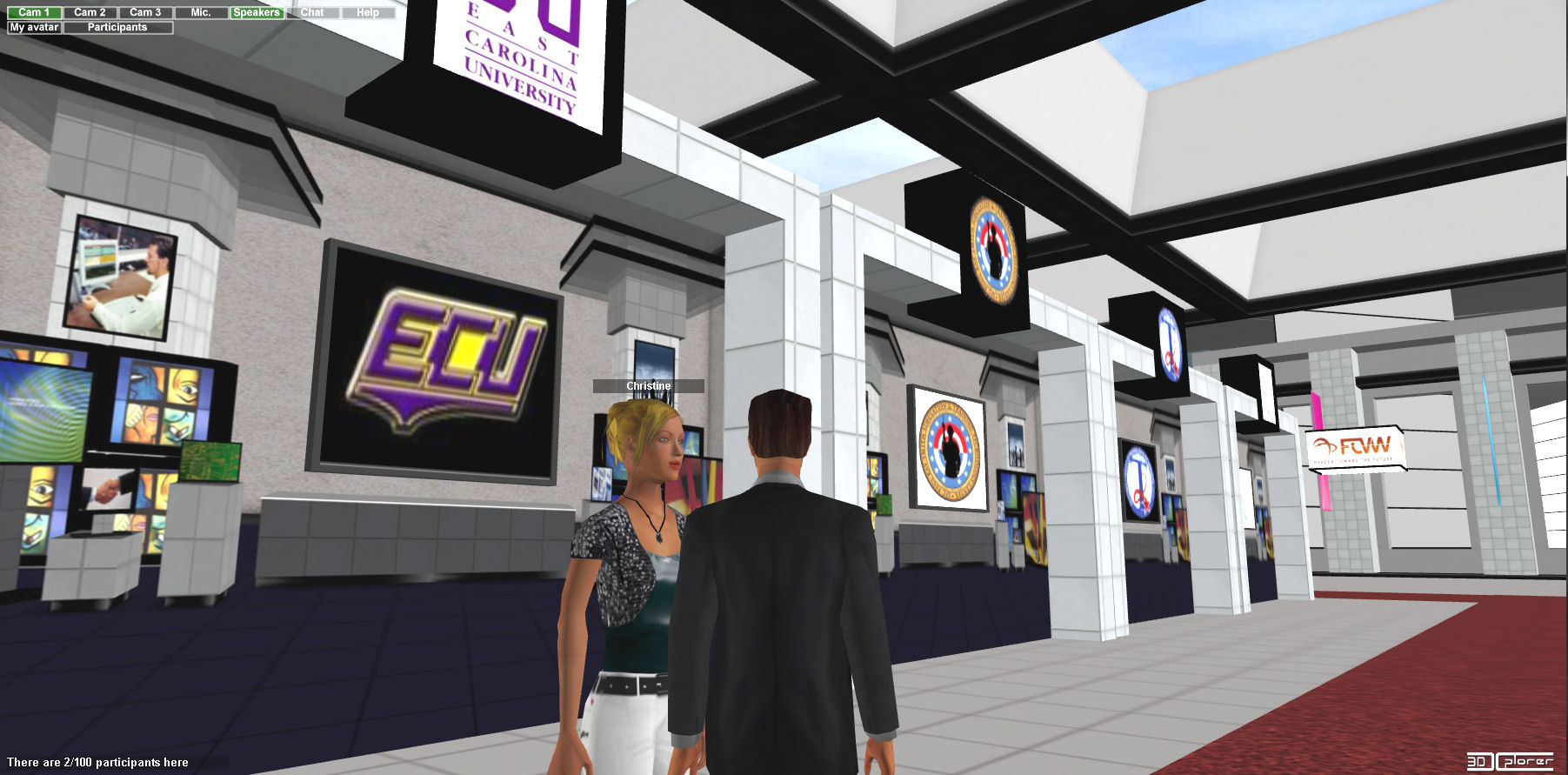 Virtual worlds 3dxplorer web 3d virtual events for 3d walkthrough